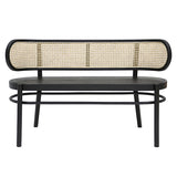 retro webbing bench in black