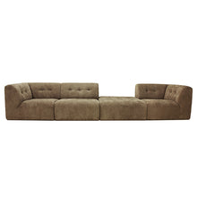 vint couch set up curduroy brown elements