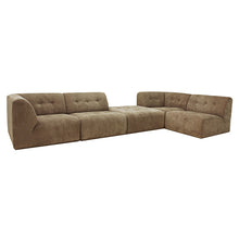 corner set up element couch brown