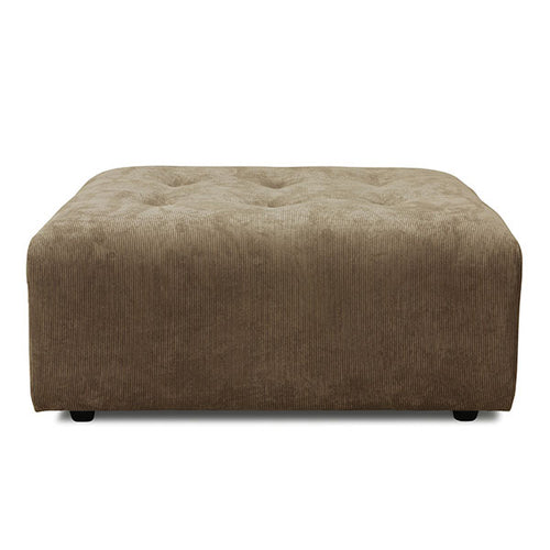 vint couch ottoman corduroy brown