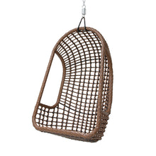 outdoor hanging chair with chain and hook in brown