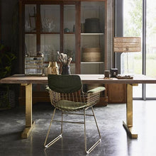 bohemian style office with hk living usa brass metal wire chair and velvet green comfort kit