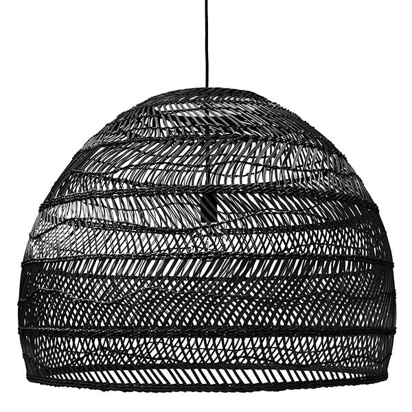 VOL5014 natural wicker hanging lamp black hk living usa