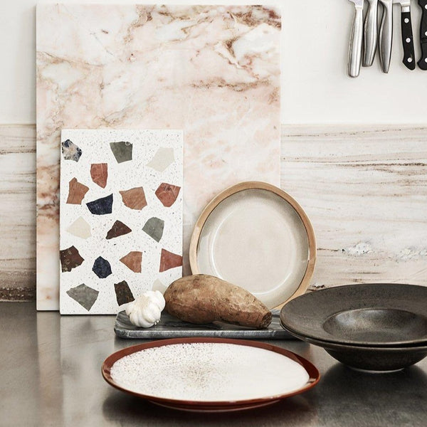 black and grey marble tray hk living usa in kitchen setting
