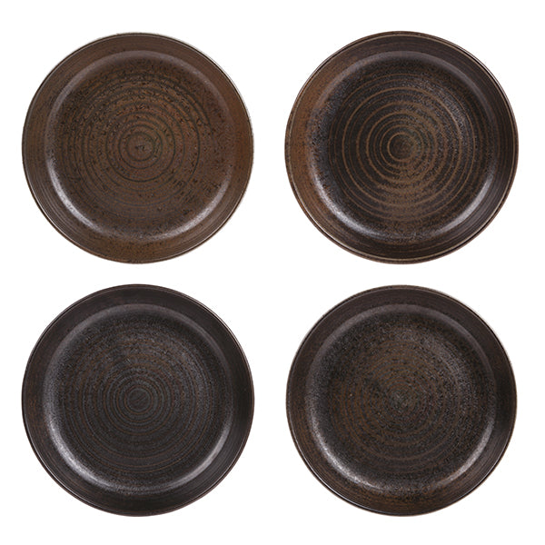 picture of 4 kyoto inspired ceramic deep plates