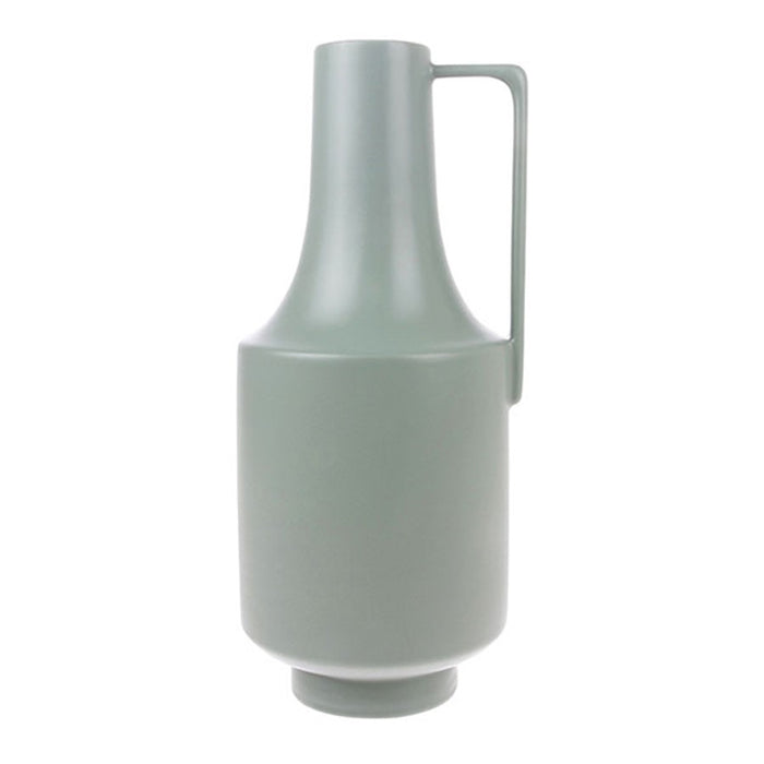 ceramic green vase with one handle