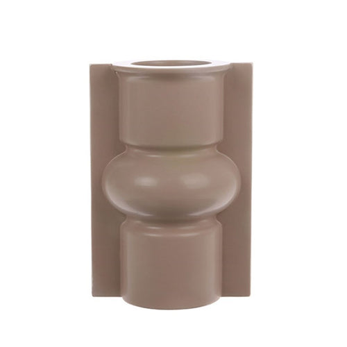 mold shape vase in matt mocha color