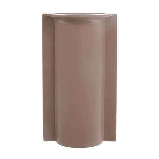 mold shape vase in matt mocha