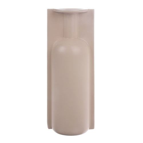 large mold shape vase in matt skin color