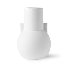 modern flower vase in matt white