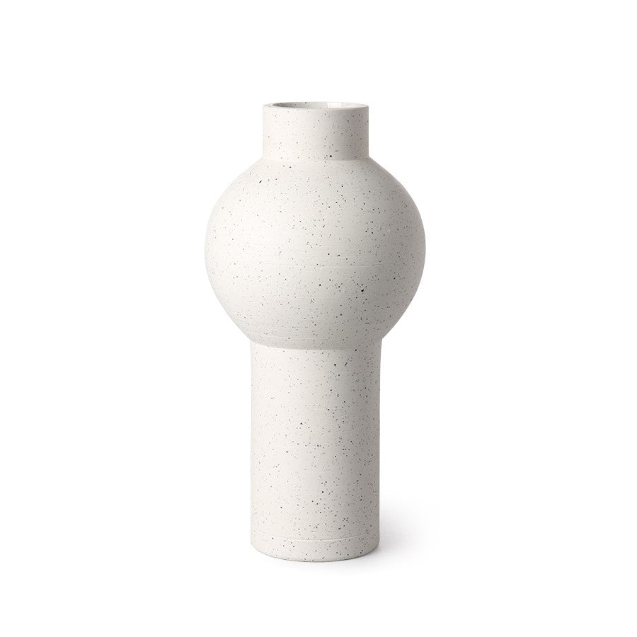 speckled caly vase round