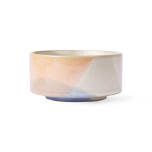 bowl with pastel colors peach and blue