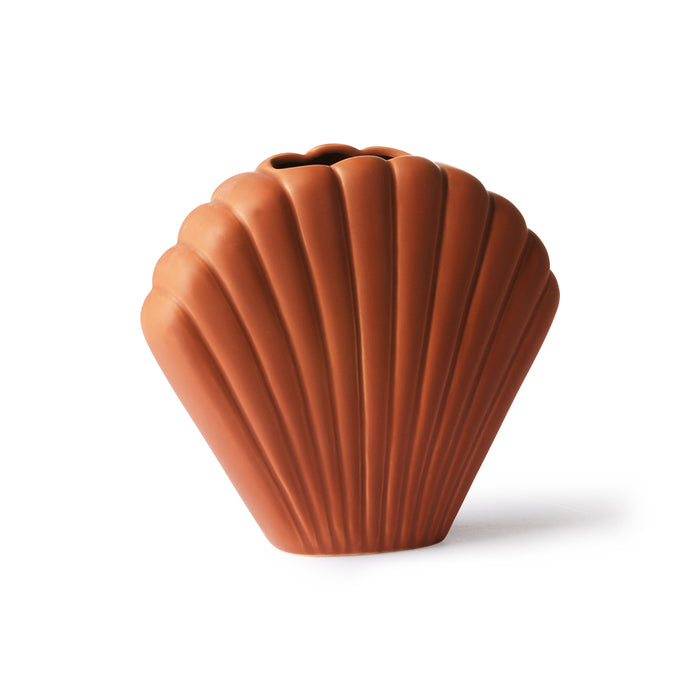 Shell vase Brown - M