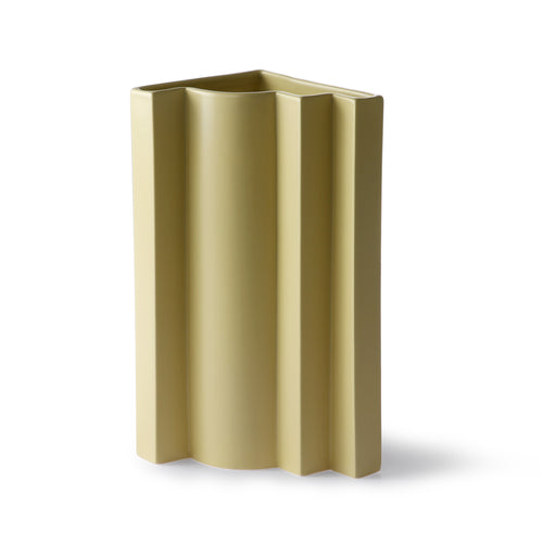 yellow cornice vase by romina gris for hk living