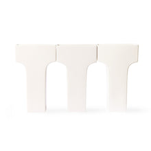white ceramic arch vase designed by romina gris for Hk living