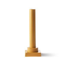 ochre colored column vase designed by romina gris for hk living