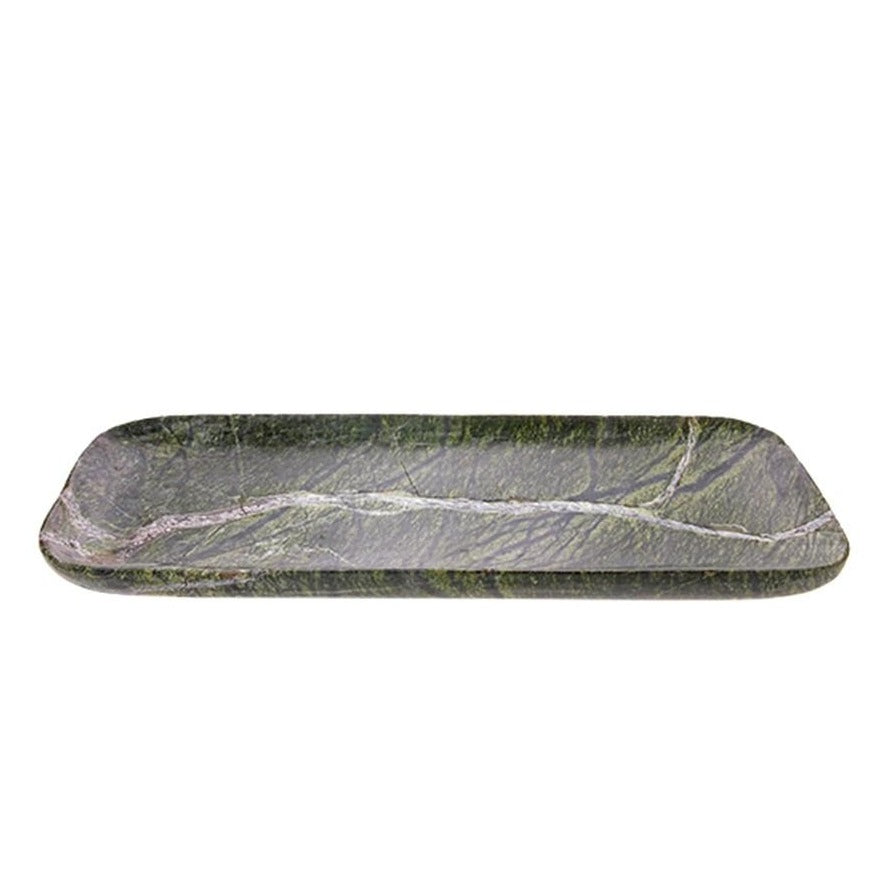 green marble tray