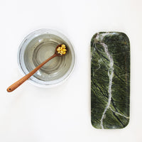 green marble tray and round bowls