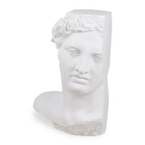 greek replica statue of Apollo as indoor sculpture in white