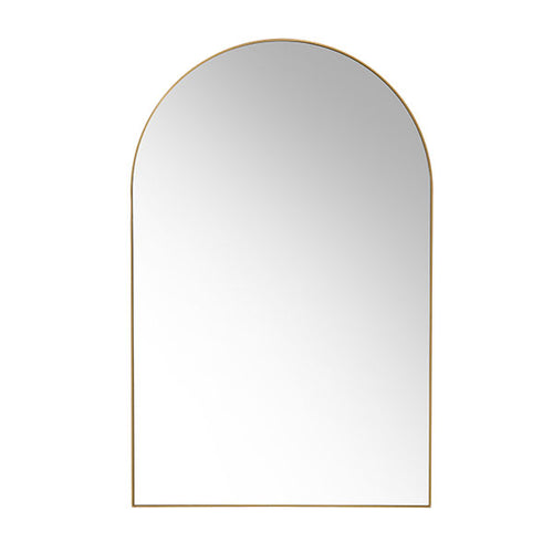 arch shaped mirror with brass frame
