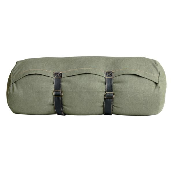 canvas bolster cushion with leather straps TKU2022 hk living usa