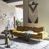 Retro Sofa | 4 seater | gold ochre