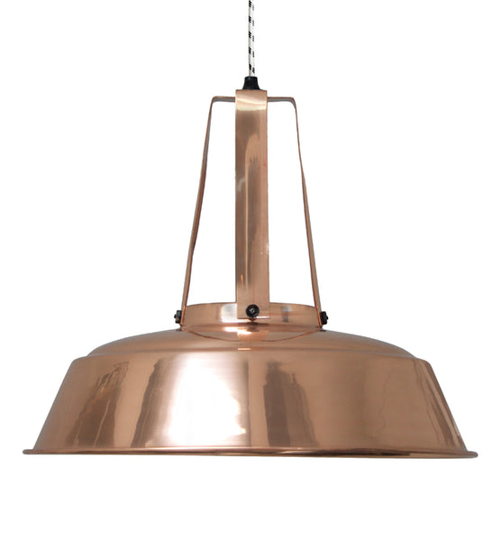 work shop lamp in copper