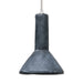 pendant lamp made of black concrete