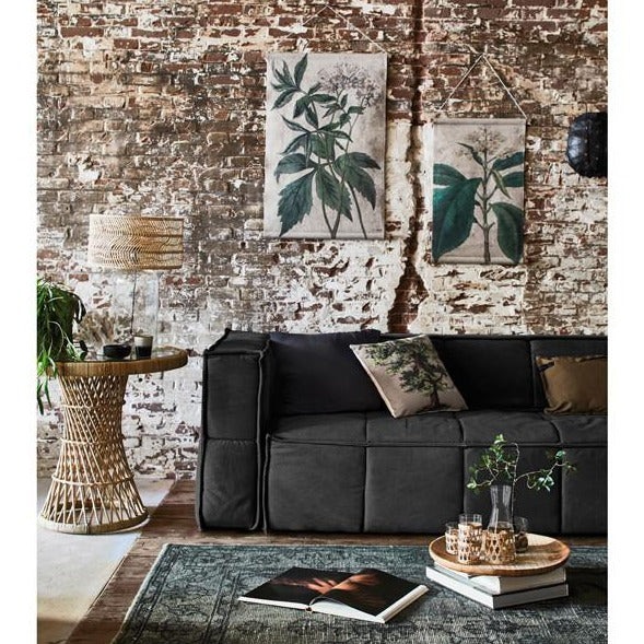 loft setting with sturdy canvas couch charcoal hk living usa