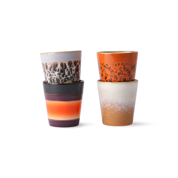 set of 4 small cups for ristretto coffee drinks