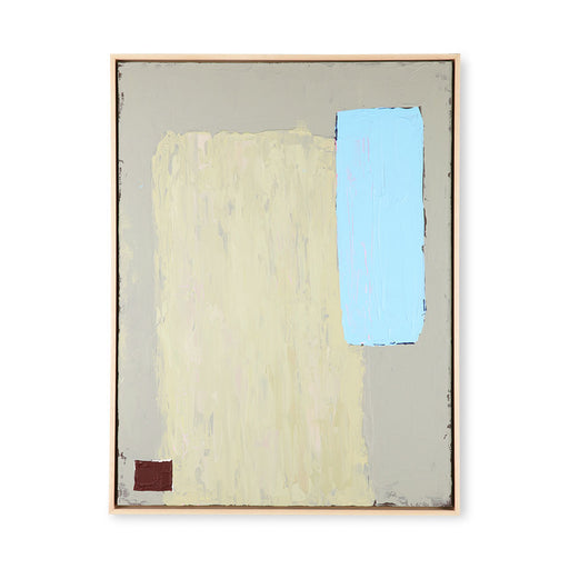 abstract painting in a wooden frame