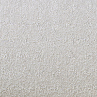 close up picture of cream colored boucle fabric