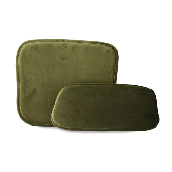 TOT4018 cushion for bar stool velvet green
