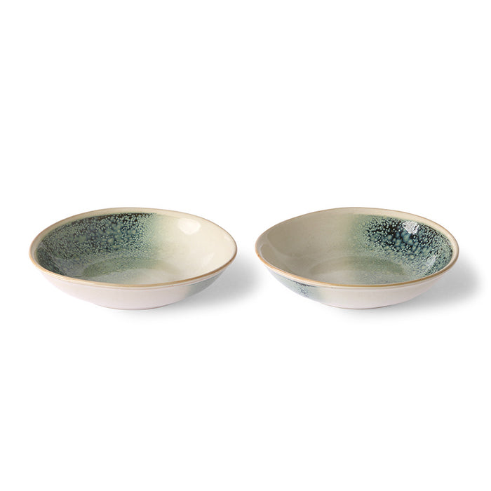 Ceramic 70's curry bowls Mist - set of 2