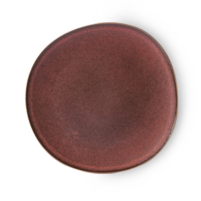 dinner plate in dark cherry color