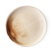 ceramic rustic dinner plate brown tones