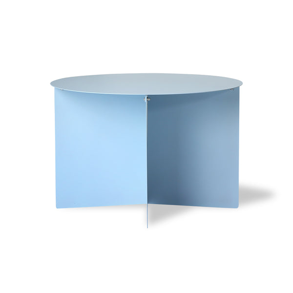 nordic style ice blue metal round side table