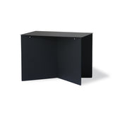modern black rectangle shaped side table