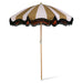 classic beach umbrella with blush and brown design