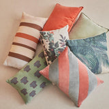 pillows in different colors and texture