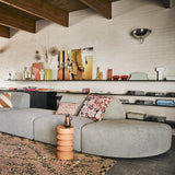 open shelving with Romina Gris objects