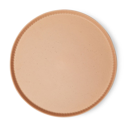 speckled stoneware tray in peach color