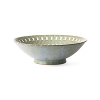Kyoto ceramics | serving bowl green