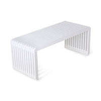 hand made wooden bench in white