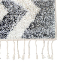 detail black and white zigzag bath mat
