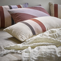 linen bedding in soft colors