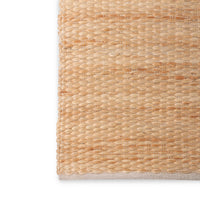 detail of texture in jute rug