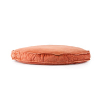seating cushion large round in orange terracotta color