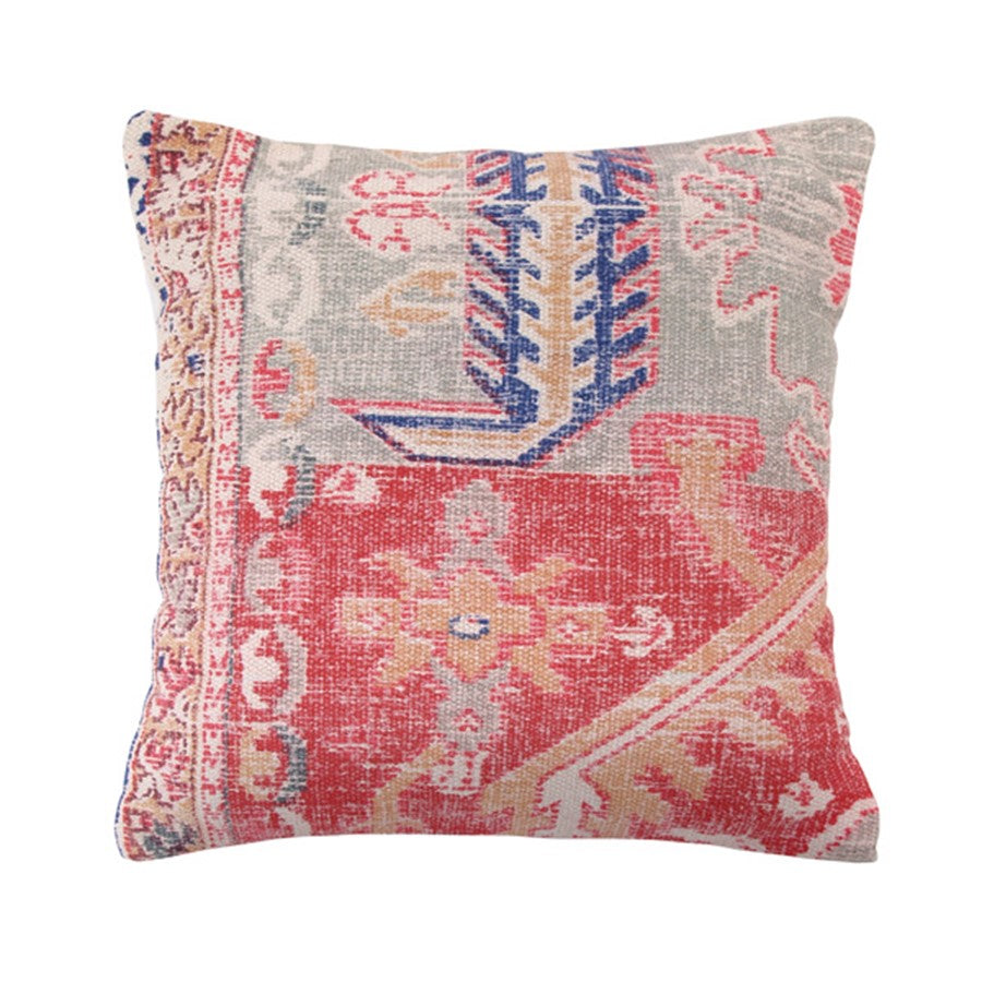throw pillow made out of vintage style rug