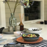 table setting with mix and matching ceramics by HKliving USA